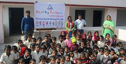 Thriveni Sainik launches Healthy Bachpan Project.