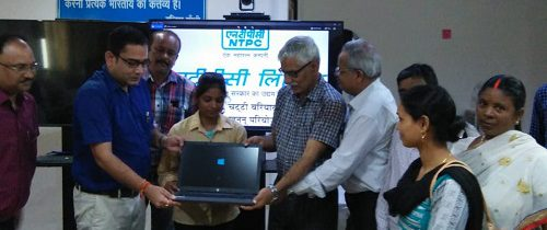 Thriveni Sainik Gifted laptop to Local Villagers