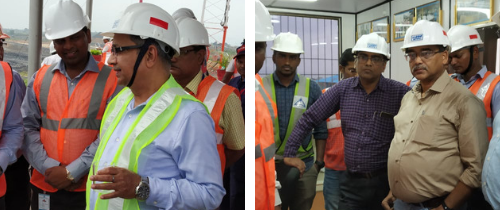 Head of Mining & Executive Director (HR), NTPC visits Pakri Barwadih site