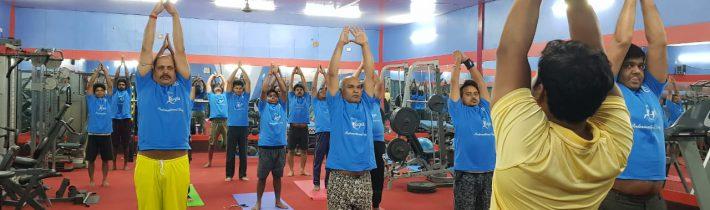 Celebration of International Yoga Day at Thriveni Sainik