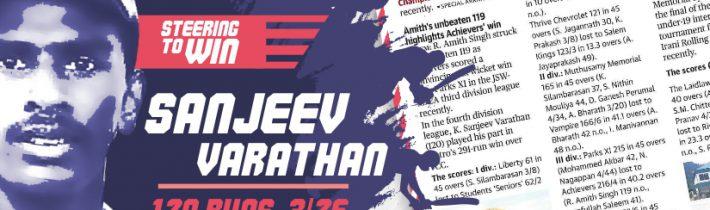 Stunning knockout ton & bowling attack of Sanjeev Varathan