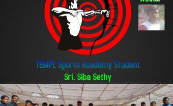 Sri. Siba Sethy won bronze medal in All india School Games Federation Archery Tournament.