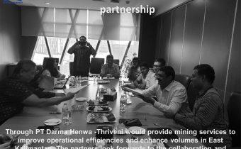 Thriveni and Bumi resources enter into a JV partnership.